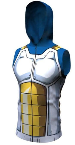 Vegeta Cell Armor Dragon Ball Z Sleeveless Hoodie-RashGuardStore