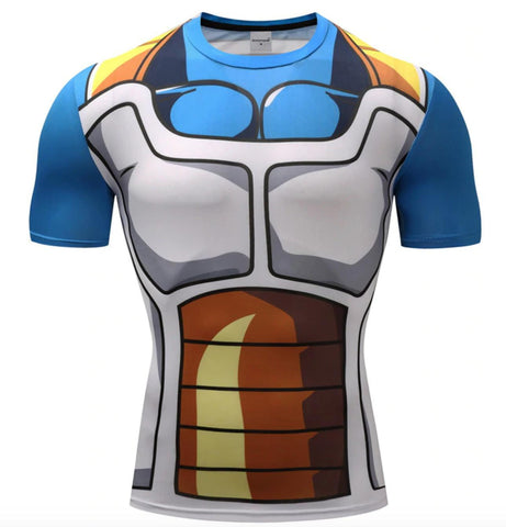 Vegeta Dragon Ball Z Compression Rash Guard-RashGuardStore