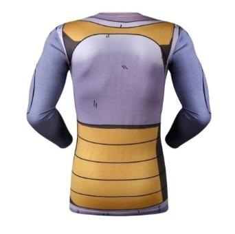 Vegeta Resurrection F Armor Dragon Ball Z Compression Long Sleeve Rash Guard-RashGuardStore