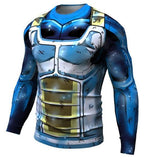Vegeta SSB Limit Breaker Dragon Ball Z Long Sleeve Compression Rash Guard-RashGuardStore