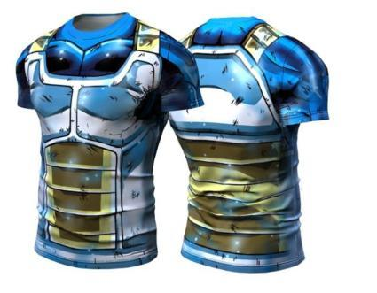 Vegeta SSB Limit Breaker Dragon Ball Z Short Sleeve Compression Rash Guard-RashGuardStore