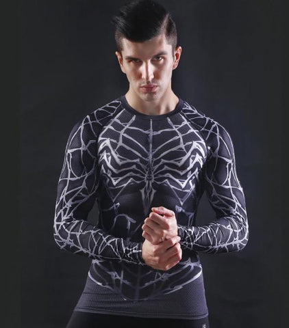 Venom Compression Long Sleeve Rashguard-RashGuardStore