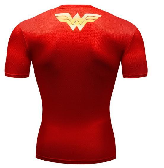 Wonder Woman 'Classic' Premium Compression Short Sleeve Rash Guard-RashGuardStore