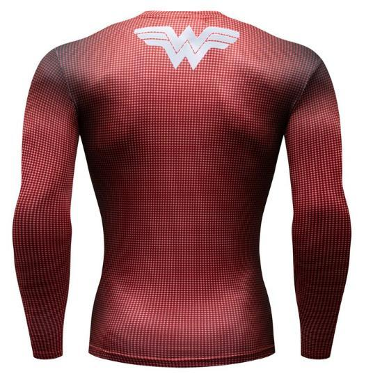 Wonder Woman Premium Compression Long Sleeve Rash Guard-RashGuardStore