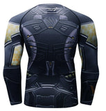 Yellow Jacket Antman Compression Long Sleeve Rash Guard-RashGuardStore