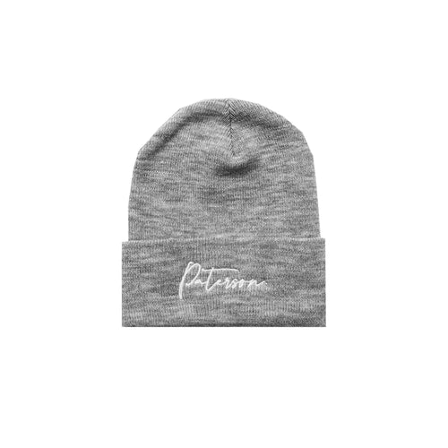 SCRIPT BEANIE (HEATHER GREY)
