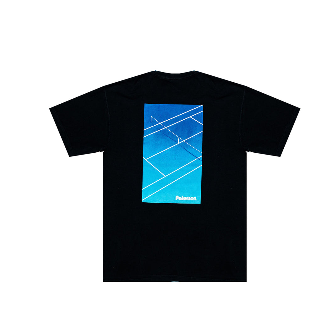 COURT CROP TEE (BLACK)