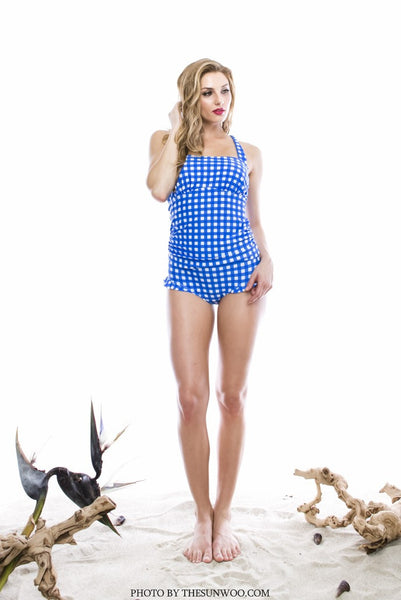 T902-Gingham Blue