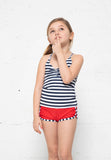 K166-Navy/Wht Stripe