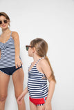 T609-Navy Wht Stripe