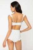 B2810-Cream/Blk Dot