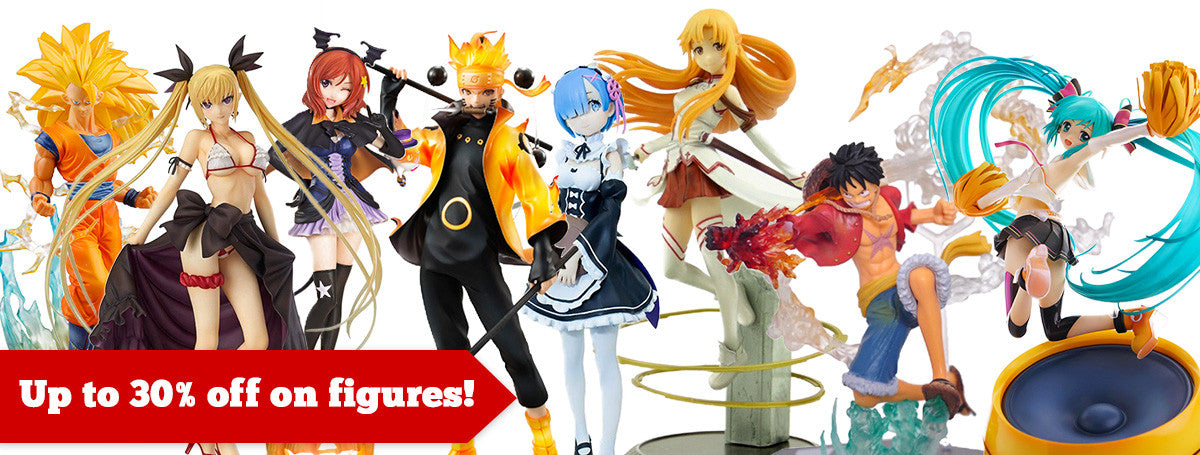 Up to 30% off on figures at Anime Warehouse!