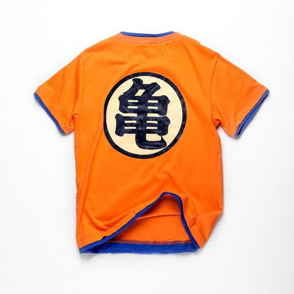 Dragon Ball Z - Men's Orange Short Sleeve V-neck T-shirt