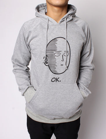 Saitama OK - One Punch Man Pocket Hooded Sweatshirt Hoodies