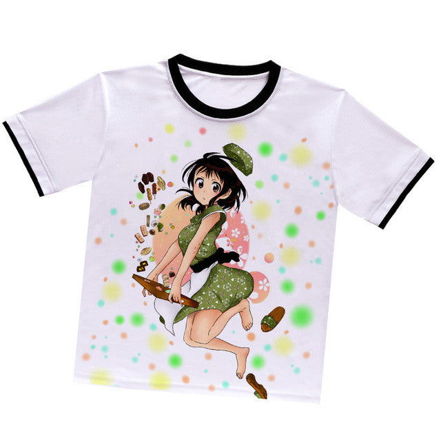 Anime Warehouse | Onodera Kosaki Pastry Green Dress - Nisekoi: False Love Anime White Polyester T-shirts