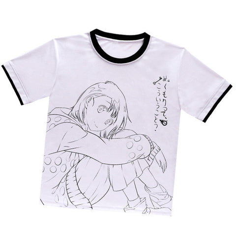 Anime Warehouse | Onodera Kosaki Outline - Nisekoi: False Love Anime White Polyester T-shirts