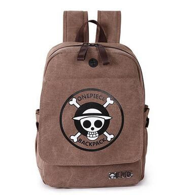 One Piece Emblem Brown - One Piece High Quality Canvas Softback Backpack