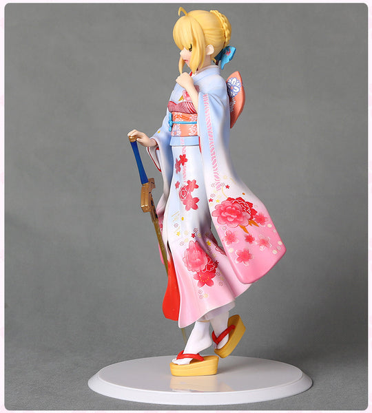 Anime Warehouse | Saber in a Kimono - Fate/Stay Night High Quality Anime PVC Figure Side View