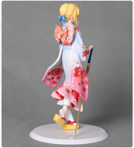 Anime Warehouse | Saber in a Kimono - Fate/Stay Night High Quality Anime PVC Figure Rear View