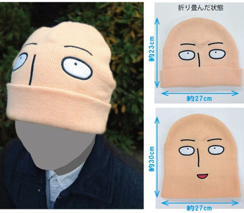 Anime Warehouse | Saitama - One Punch Man Beanie Hat - Anime Cosplay