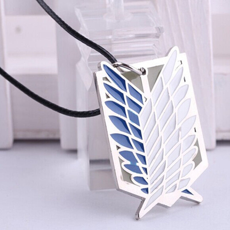 Anime Warehouse | Attack on Titan - Survey Core Blue and Silver Pendant Necklace
