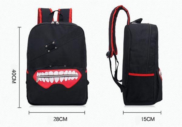 Ken Kaneki - High Quality Tokyo Ghoul Oxford Unisex Softback Zipper Backpack