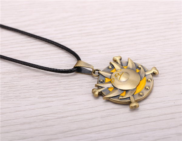 Anime Warehouse | Thousand Sunny Logo - One Piece Bronze Stainless Steel Necklace