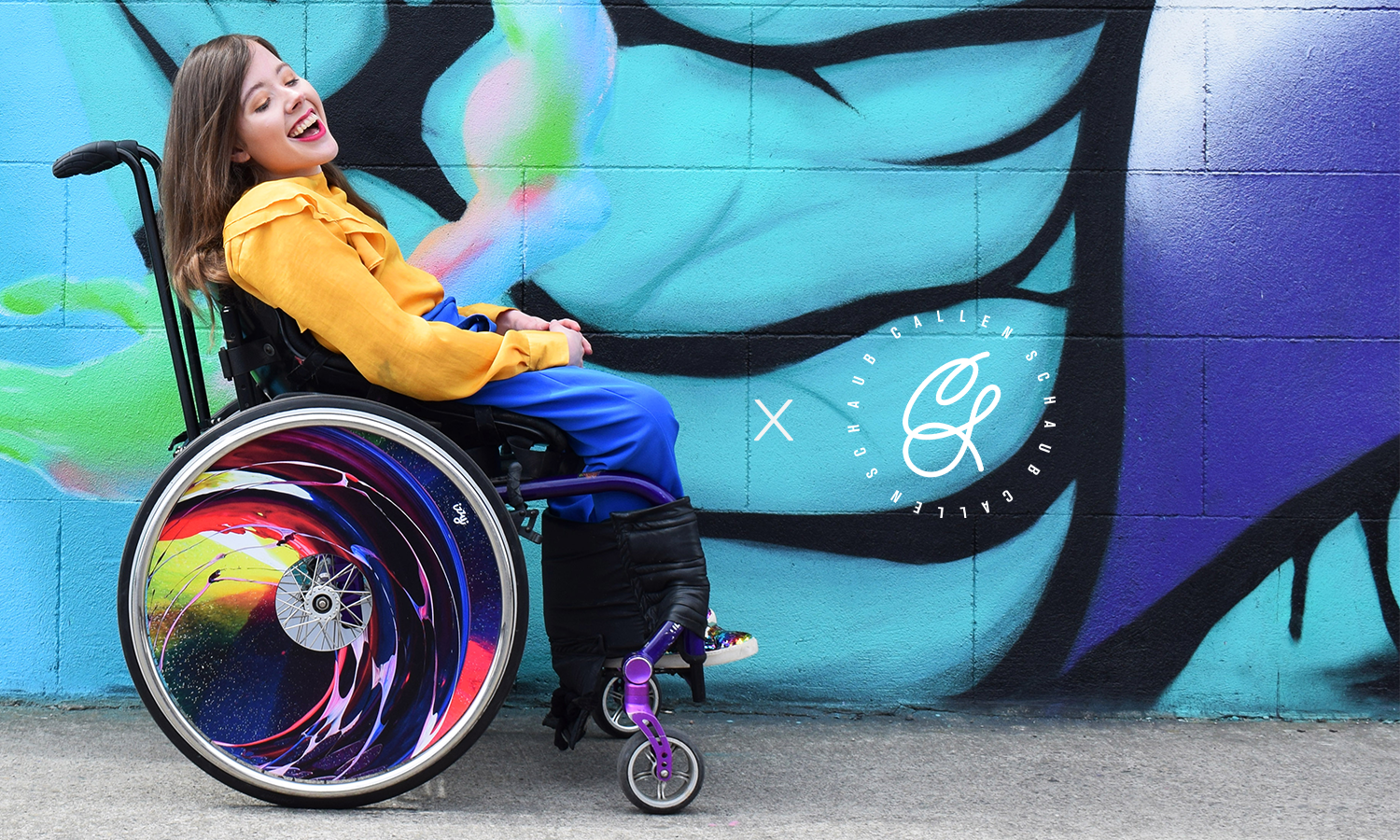 Izzy Wheels x Callen Schaub Wheelchair Wheel Covers