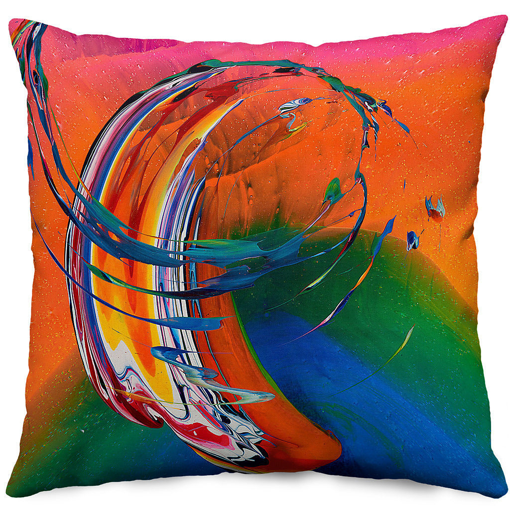 'Peachflame Sunrise' Throw Pillow