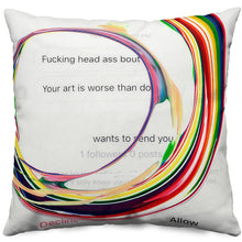 'No Rain, No Rainbow (DM #1)' Throw Pillow