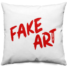 'Fake Art' Throw Pillow