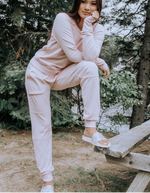 Vintage Fleece Pant (Light Pink/Blue)