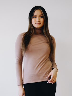 Turtleneck in Pima cotton stretch