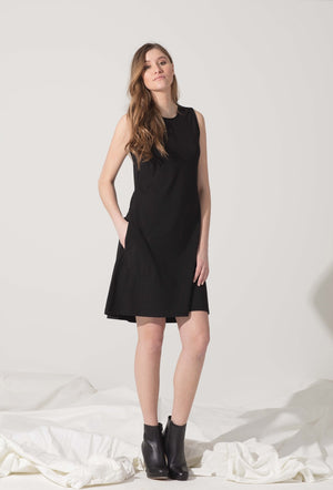 A Line Dress With Pockets - SBASE