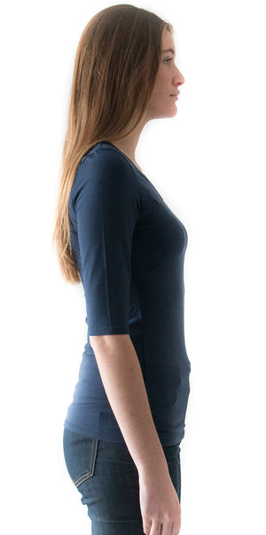 Scoop neck 3/4 Sleeve / Scoop 3/4 - SBASE