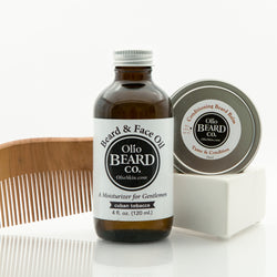 Beard Oil, Balm & Comb Set