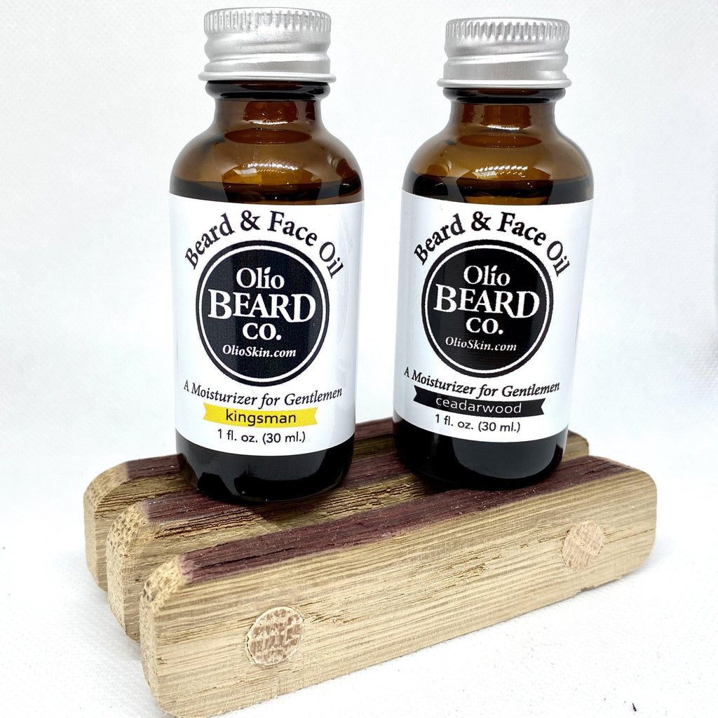 Upcycled Whiskey or Wine Oak Barrel Soap Tray - Olio Skin & Beard Co.