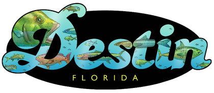 Destin Fish Sticker