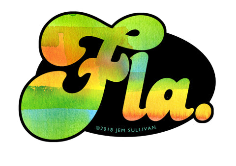 Florida Watercolor Sticker