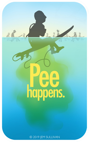Pee Happens Sticker