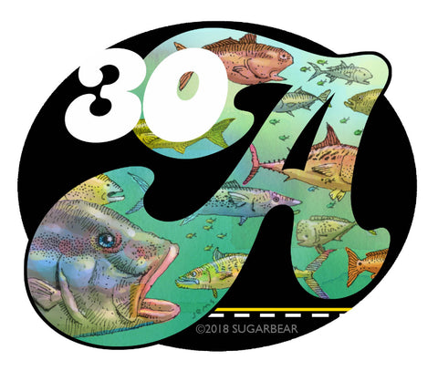 30A Fish Sticker