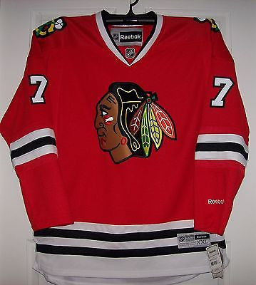 new style 91bb1 fffc0 SEABROOK Chicago Blackhawks Reebok Premier 7185 Home Red Jersey