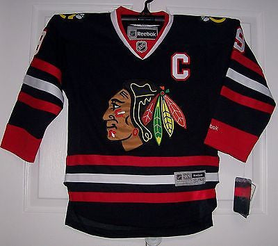 TOEWS Chicago Blackhawks 3rd BLACK Reebok Premier YOUTH Jersey ... 1d93ffea0