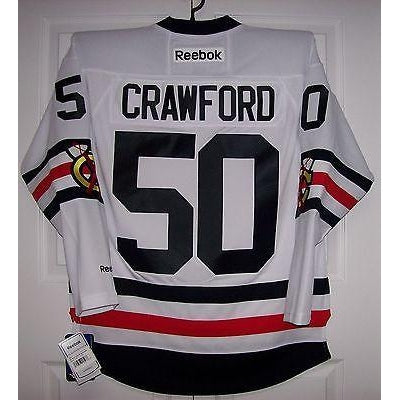 los angeles 252fd 1100c CRAWFORD 2017 Winter Classic Chicago Blackhawks Reebok Premier Jersey