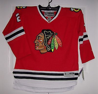 best authentic acaab 15a06 KEITH Chicago Blackhawks Reebok Premier Home Red YOUTH Jersey