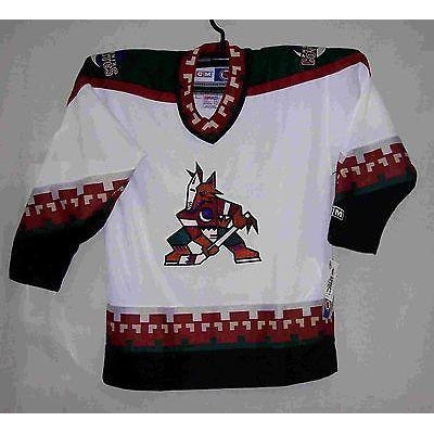 the latest 28e80 56449 Phoenix Coyotes Retro White CCM Toddler Jersey