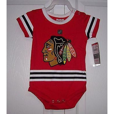 2a0493b4 3 pack Chicago Blackhawks Baby CREEPERS Reebok Red White Grey Jersey  $32.00. Chicago Blackhawks Baby CREEPER Reebok HOME Red Jersey