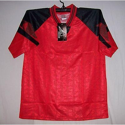 63451137aae Red & Black Interroma Soccer jersey jerseys Youth - Hockey Jersey Outlet