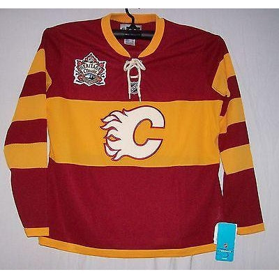 save off 26d4c ce128 WOMENS Heritage Classic Calgary Flames Reebok Jersey