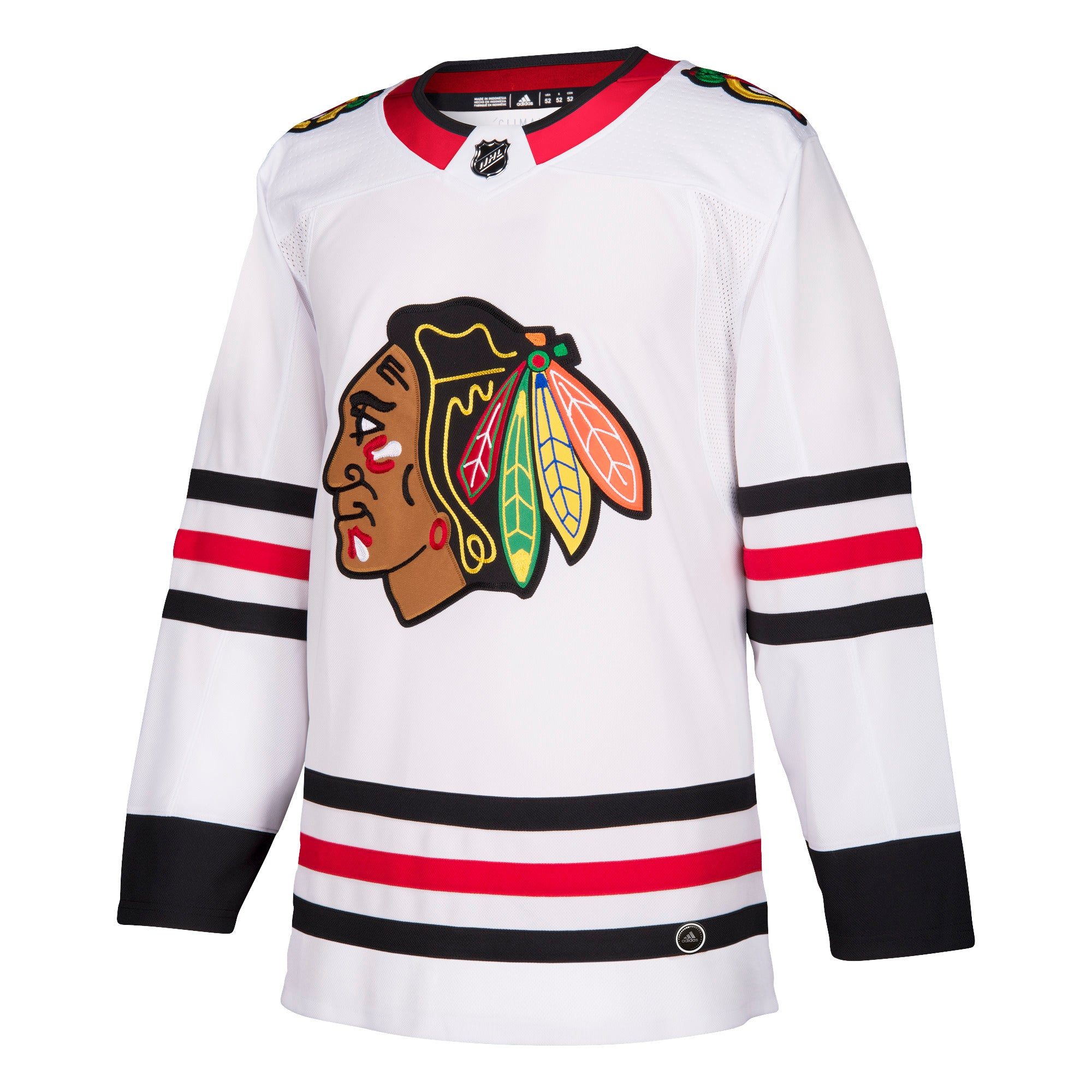 new style 883da d07a2 Chicago Blackhawks AWAY White 252J Adidas NHL Authentic Pro Jersey